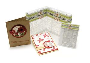 Poppyprints in cardmaker