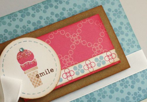 Dots and spots smile detail