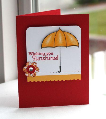 Scattered showersSunshine card