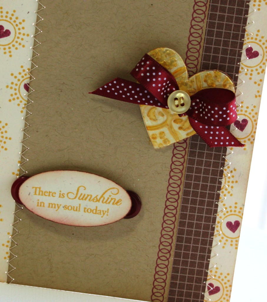 Heavenly Medley Sunshine Heart card detail