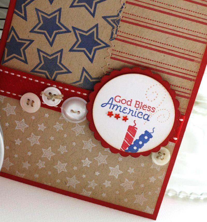 Let Freedom Ring God bless America card detail