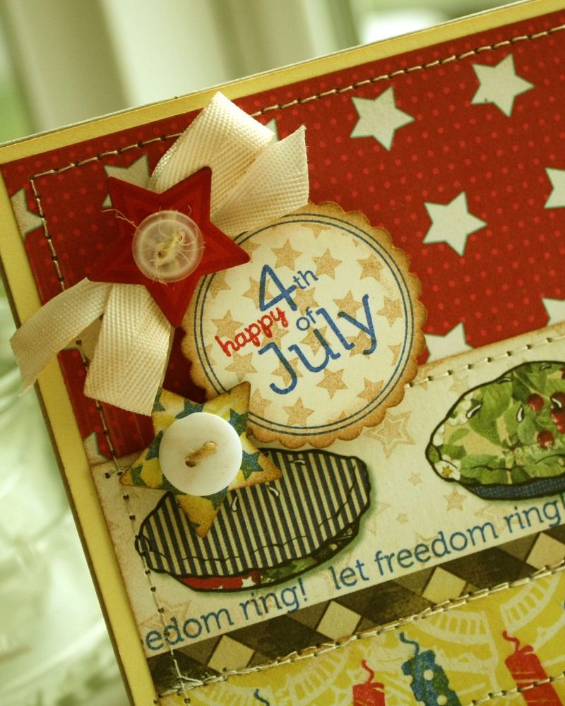 Let freedom ring pie card detail