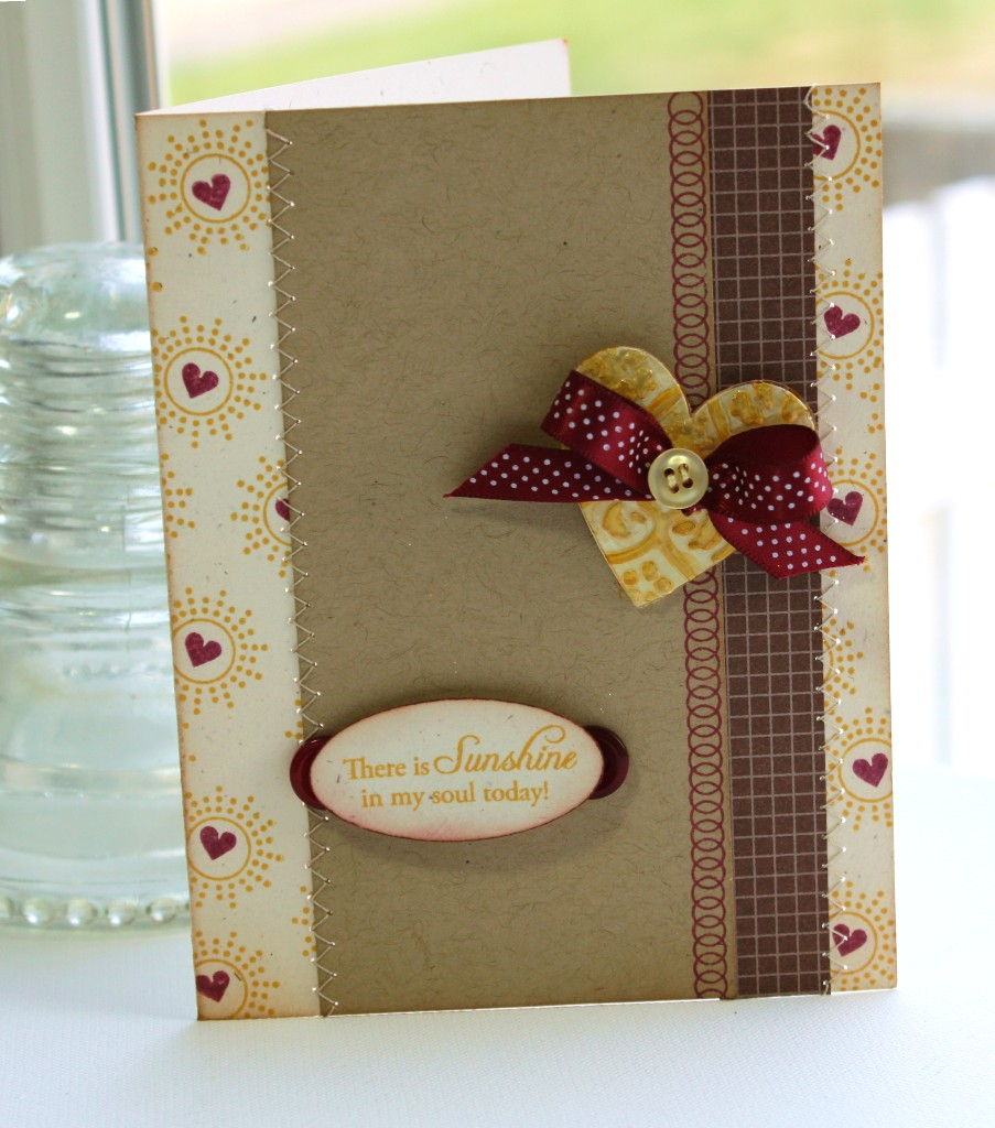 Heavenly Medley Sunshine Heart card