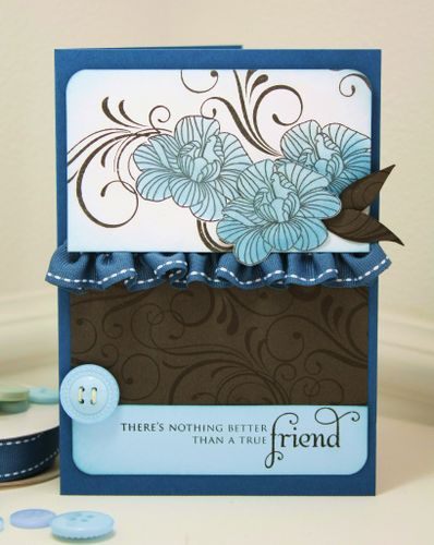 Ruffled card