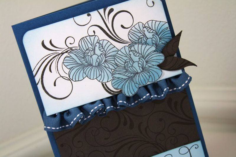 Ruffled card detail